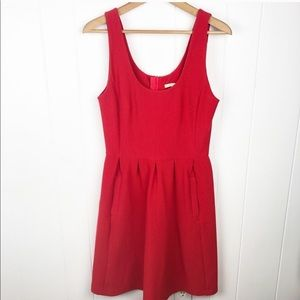 Banana republic• Red fit & flare rubbed knit dress